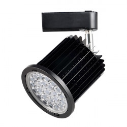 Foco carril negro 36W orientable luz fría